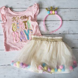 Birthday Tutu Outfit - 12 Month
